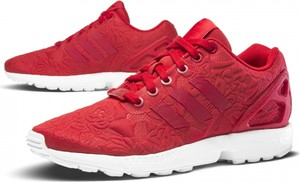 Buty sportowe Adidas zx flux sznurowane w sportowym stylu