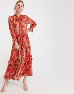 Różowa sukienka Reserved w stylu boho