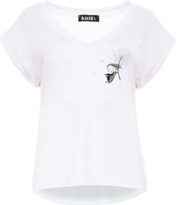 T-shirt Knitis z dzianiny