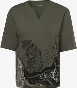 Zielona bluzka Marc Cain z dekoltem w kształcie litery v