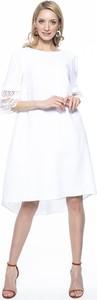 Sukienka Lavard z lnu z okrągłym dekoltem