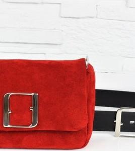 Czerwona torebka Fabiola ze skóry
