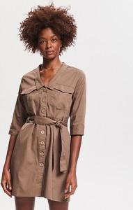 Sukienka Reserved szmizjerka z długim rękawem