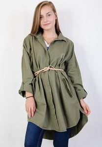 Zielona kurtka Olika długa