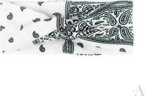 Chrl Designerska wzorzysta opaska damska ecru-czarna