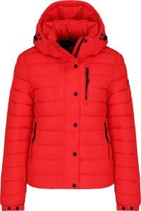 Czerwona kurtka Superdry w stylu casual krótka
