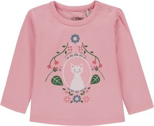 Różowa bluzka dziecięca Kanz z bawełny