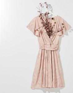 Sukienka Mohito z dekoltem w kształcie litery v midi rozkloszowana
