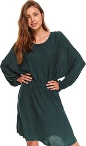 Sukienka Top Secret z długim rękawem z okrągłym dekoltem koszulowa