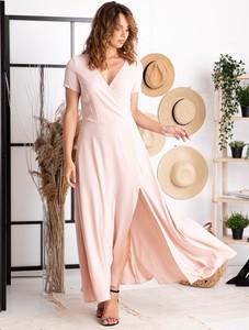 Sukienka Grandio z tkaniny maxi