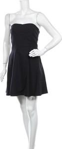 Czarna sukienka Paul & Joe mini z okrągłym dekoltem