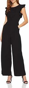 Czarny kombinezon Rinascimento z długimi nogawkami w sportowym stylu z dresówki