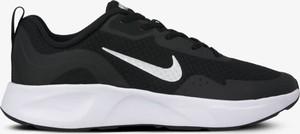 Czarne buty sportowe Nike z płaską podeszwą ze skóry