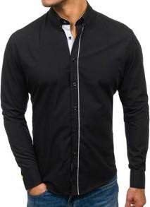 Czarna koszula denley z bawełny