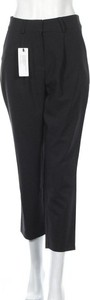 Czarne spodnie Trendyol w stylu retro ze sztruksu