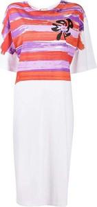 Sukienka Marni z okrągłym dekoltem z krótkim rękawem mini