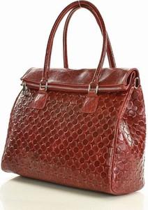 Czerwona torebka MAZZINI do ręki średnia ze skóry