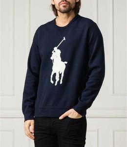 Granatowa bluza POLO RALPH LAUREN w młodzieżowym stylu z nadrukiem