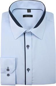 Granatowa koszula Grzegorz Moda Męska z bawełny