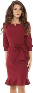 Czerwona sukienka Ella Dora z długim rękawem