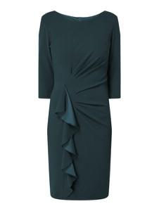 Granatowa sukienka Paradi mini z długim rękawem
