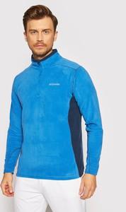 Niebieska bluza Columbia w sportowym stylu z polaru