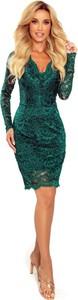 Zielona sukienka Moda Dla Ciebie dopasowana mini