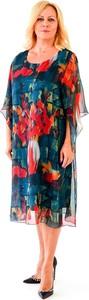 Sukienka Roxana - sukienki z okrągłym dekoltem z szyfonu z długim rękawem