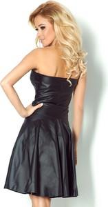 Czarna sukienka NUMOCO rozkloszowana bez rękawów z tkaniny