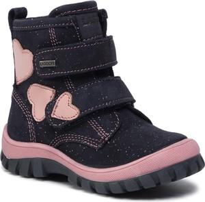 Czarne buty dziecięce zimowe Lasocki Kids na rzepy