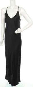 Czarna sukienka Ottod'ame maxi na ramiączkach z dekoltem w kształcie litery v