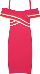 Sukienka Twinset z krótkim rękawem ołówkowa w stylu casual