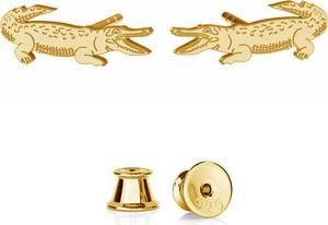 GIORRE SREBRNE KOLCZYKI KROKODYLE 925 : Kolor pokrycia srebra - Pokrycie Żółtym 24K Złotem