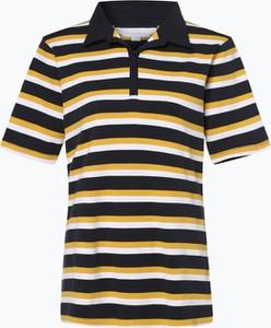 Żółty t-shirt brookshire z krótkim rękawem w stylu casual