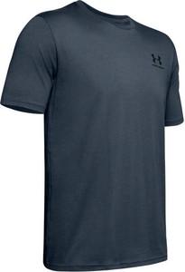 Granatowy t-shirt Under Armour z bawełny