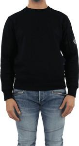 Czarny sweter C.P. Company z okrągłym dekoltem