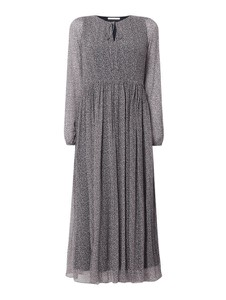 Sukienka Hugo Boss maxi z długim rękawem z jedwabiu