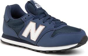 Niebieskie buty sportowe New Balance z płaską podeszwą