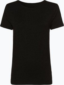 Czarny t-shirt Only z krótkim rękawem w stylu casual z okrągłym dekoltem