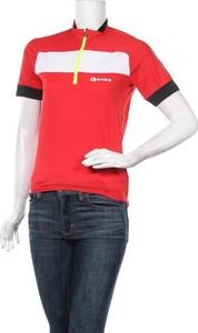 Czerwona bluzka Gonso z okrągłym dekoltem w sportowym stylu z krótkim rękawem
