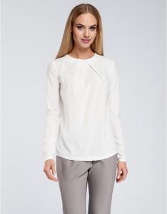 Bluzka MOE z okrągłym dekoltem w stylu casual z długim rękawem