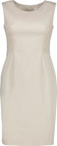Sukienka Lavard ołówkowa z bawełny bez rękawów