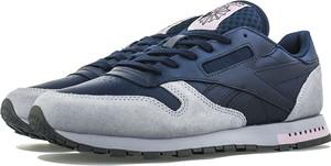 Buty sportowe Reebok ze skóry z płaską podeszwą sznurowane