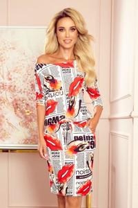 Sukienka NUMOCO mini sportowa z długim rękawem