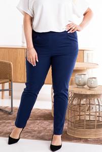 Niebieskie spodnie KARKO z bawełny