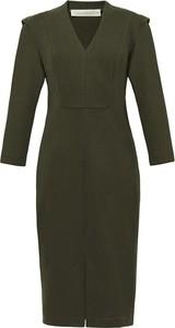 Zielona sukienka RISK made in warsaw