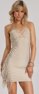 Sukienka Renee na ramiączkach bodycon z dekoltem w kształcie litery v