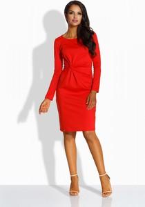 Czerwona sukienka Lemoniade z długim rękawem z okrągłym dekoltem