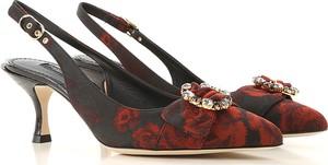 Czarne szpilki Dolce & Gabbana na obcasie ze spiczastym noskiem