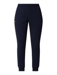 Granatowe spodnie Lacoste